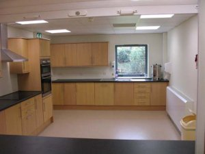 A picture of the community centre kitchen